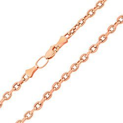 Цепочка из красного золота в якорном плетении 000133566