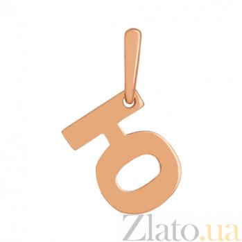 Золотая подвеска Буква Ю VLN--314-1748