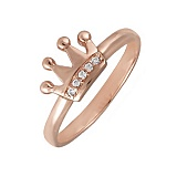 Кольцо в красном золоте Little Princess с фианитами