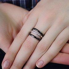 Серебряное кольцо Ронолда с керамикой и фианитами