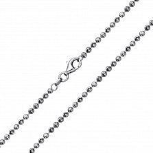 Серебряная цепочка Эльза с круглой насечкой
