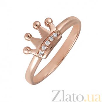 Кольцо в красном золоте Little Princess с фианитами SVA--1101142101/Фианит/Цирконий