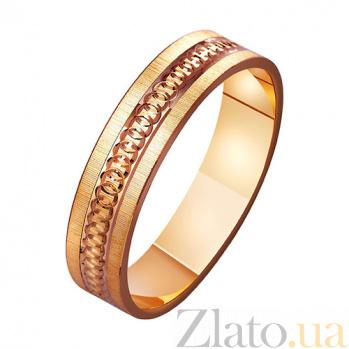 Золотое обручальное кольцо Сладкий плен TRF--411189