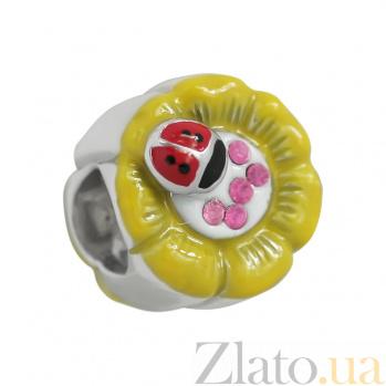 Серебряный шарм с эмалью Июль 3Н203-0331