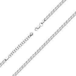 Серебряный браслет Дженифер с фианитами фантазийного плетения
