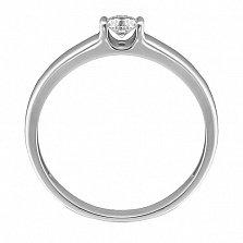 Золотое кольцо Армина в белом цвете с бриллиантом