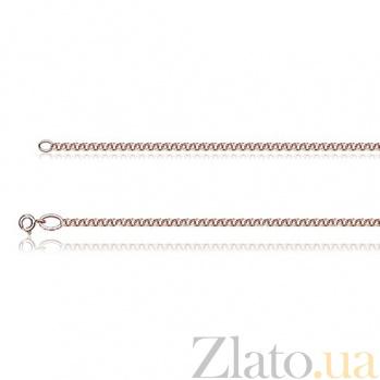 Браслет из красного золота Бисмарк классический, 2,5мм EDM--Б013-2