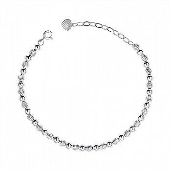 Серебряный браслет с алмазной гранью 000148968