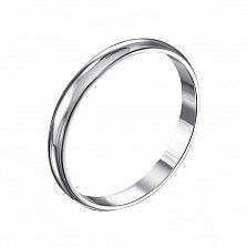 Серебряное обручальное кольцо Первый танец