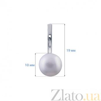 Серебряные серьги с жемчугом Руана AQA--25370Бр