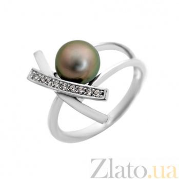 Золотое кольцо с бриллиантами и жемчужиной Монте Кристо VLA--14639