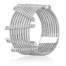 Золотое кольцо с кристаллами циркония Гвеневер