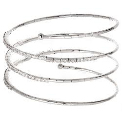 Золотой спиральный браслет Ханна с бриллиантами 000054176