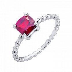 Серебряное кольцо с гранатом 000103101