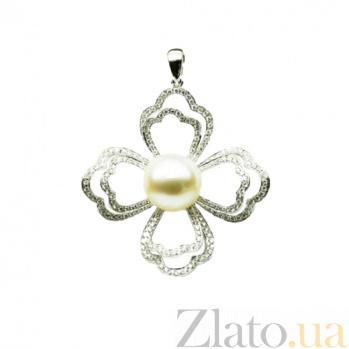 Золотой подвес с жемчугом и бриллиантами Марджери 000026775