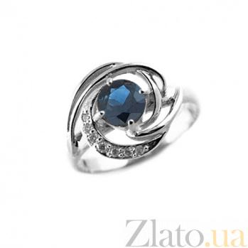 Кольцо из белого золота с сапфиром и бриллиантами Алессия ZMX--RS-6665w_K
