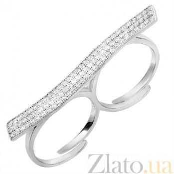 Двойное серебряное кольцо Гламур 30327