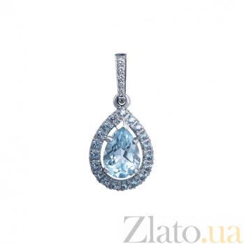 Подвес с бриллиантами и топазом Evelynne AQA--п016бT