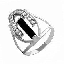 Серебряное кольцо Указание свыше с агатом и фианитами
