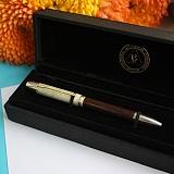 Подарочная ручка из серебра с цитринами Сияние звезд