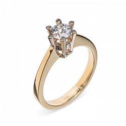 Кольцо в желтом золоте Сюрприз с бриллиантом