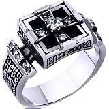 Мужской серебряный перстень-печатка Лукас