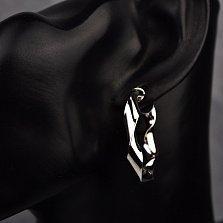 Серебряные серьги-кольца Симонетт, 35 мм