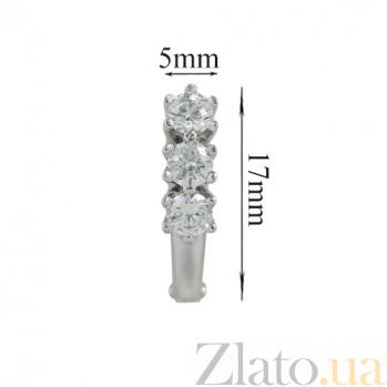 Серьги из белого золота с кристаллами Swarovski Велма 2С171-0127