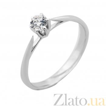 Золотое помолвочное кольцо Амели в белом цвете с бриллиантом VLA--14469