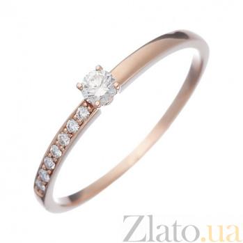 Золотое кольцо с бриллиантами Рикарда 1К035-0094