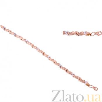 Золотой браслет с фианитами Ксантия ONX--б01142