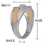 Золотой перстень Победитель с бриллиантом
