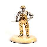 Серебряная статуэтка с позолотой Мастер