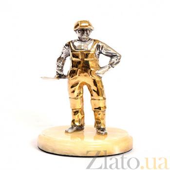 Серебряная статуэтка с позолотой Мастер 1578