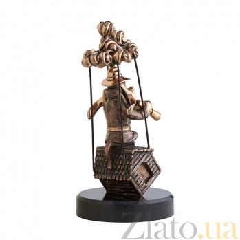 Бронзовая скульптура Вперед к мечте на базальтовой подставке 000061468