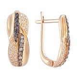Золотые серьги Варвара с бриллиантами