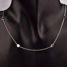 Серебряное колье Белинда в стиле городского минимализма