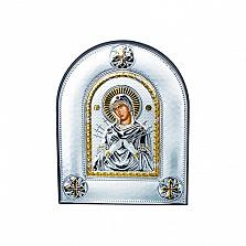 Серебряная икона Семистрельная