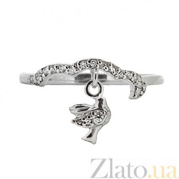 Серебряное кольцо с цирконием Height ZMX--RCz-6900-Ag_K