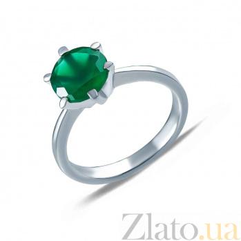 Серебряное кольцо с зеленым агатом Дамиана AQA--R00220Ag
