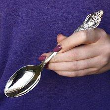 Серебряная столовая ложка Розочка