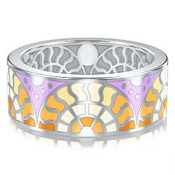 Обручальное кольцо из белого золота Талисман: Счастья 000009981