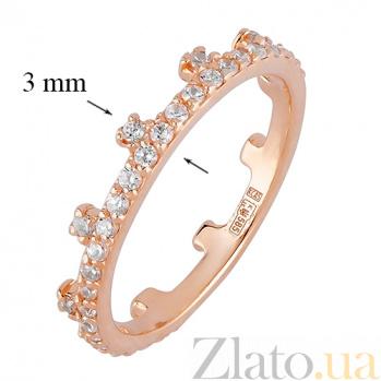 Кольцо из красного золота Символ власти SVA--1101276101/Фианит/Цирконий