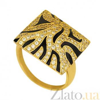 Кольцо из желтого золота Сафари с фианитами VLT--Т153-1