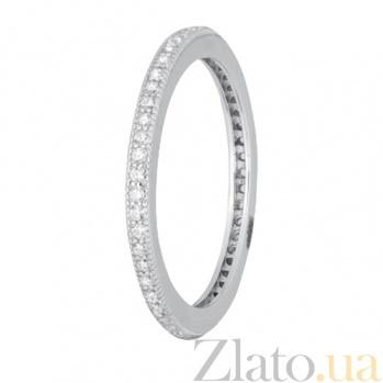 Серебряное кольцо с цирконием Жанетт 000028254