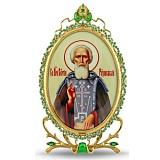 Серебряная икона Преподобного Сергия Радонежского