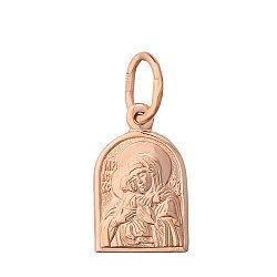 Золотая ладанка Дева Мария с Младенцем Умиление