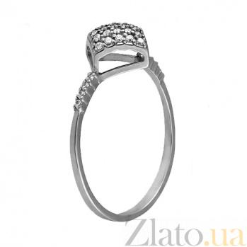 Кольцо в белом золоте Рим с фианитами 000022928