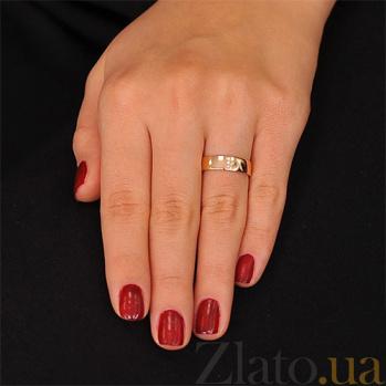 Золотое обручальное кольцо с фианитами Мадрид 000001627