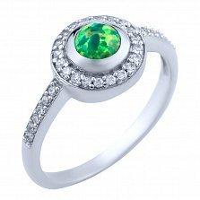 Серебряное кольцо Амбер с опалом и цирконием